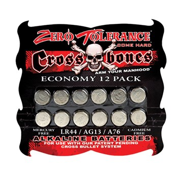 ZT Evolved Batteries LR44/AG13/A76 12 Pack at BetterSex.com