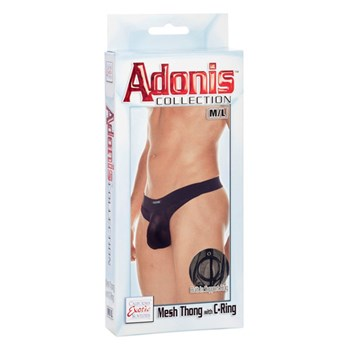 adonis mesh thong with c ring