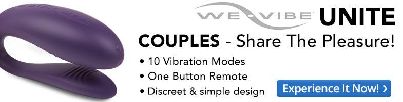 We-Vibe Unite. Couples – share the pleasure! Ten vibration modes, one button remote, discreet design.