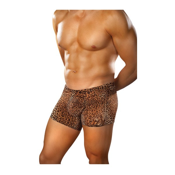 Brown Leopard Shorts